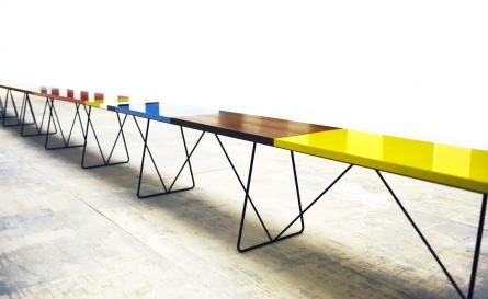 10metre, bench, morag & Luke, white